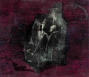 """Grafik """"Flammen"""" von Susann Hoch"""