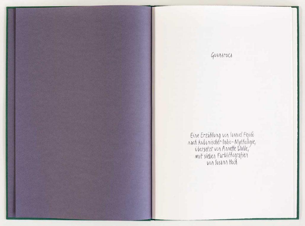 Guanaroca - Innenansicht des Buches